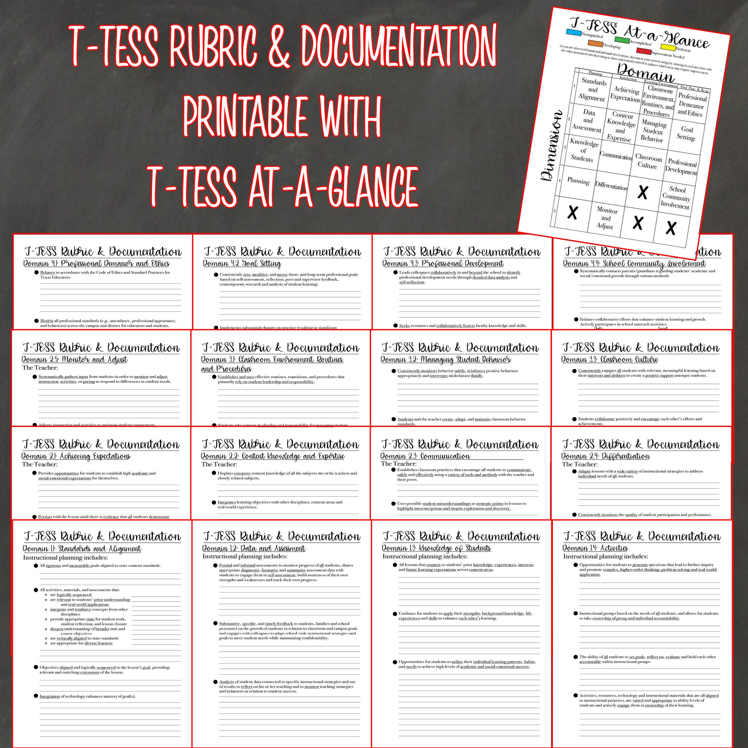 It's just an image of Versatile T-tess Rubric Printable