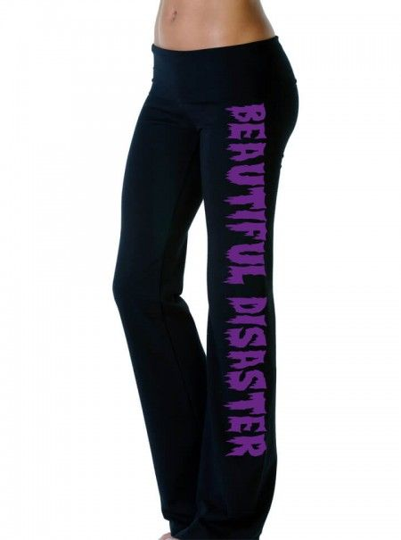 Creep Show Yoga Pants for Women by Beautiful Disaster | Inked Shop#inked #inkedmag #inkedgirls #blackyogapants #creepshow #activewear