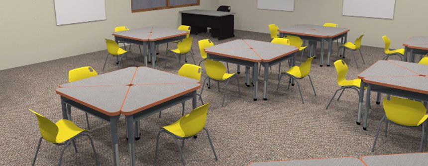 Triangle Square Smith System Collaborative Desks Schoolfurniture Clroom Welcome To The 21st Century