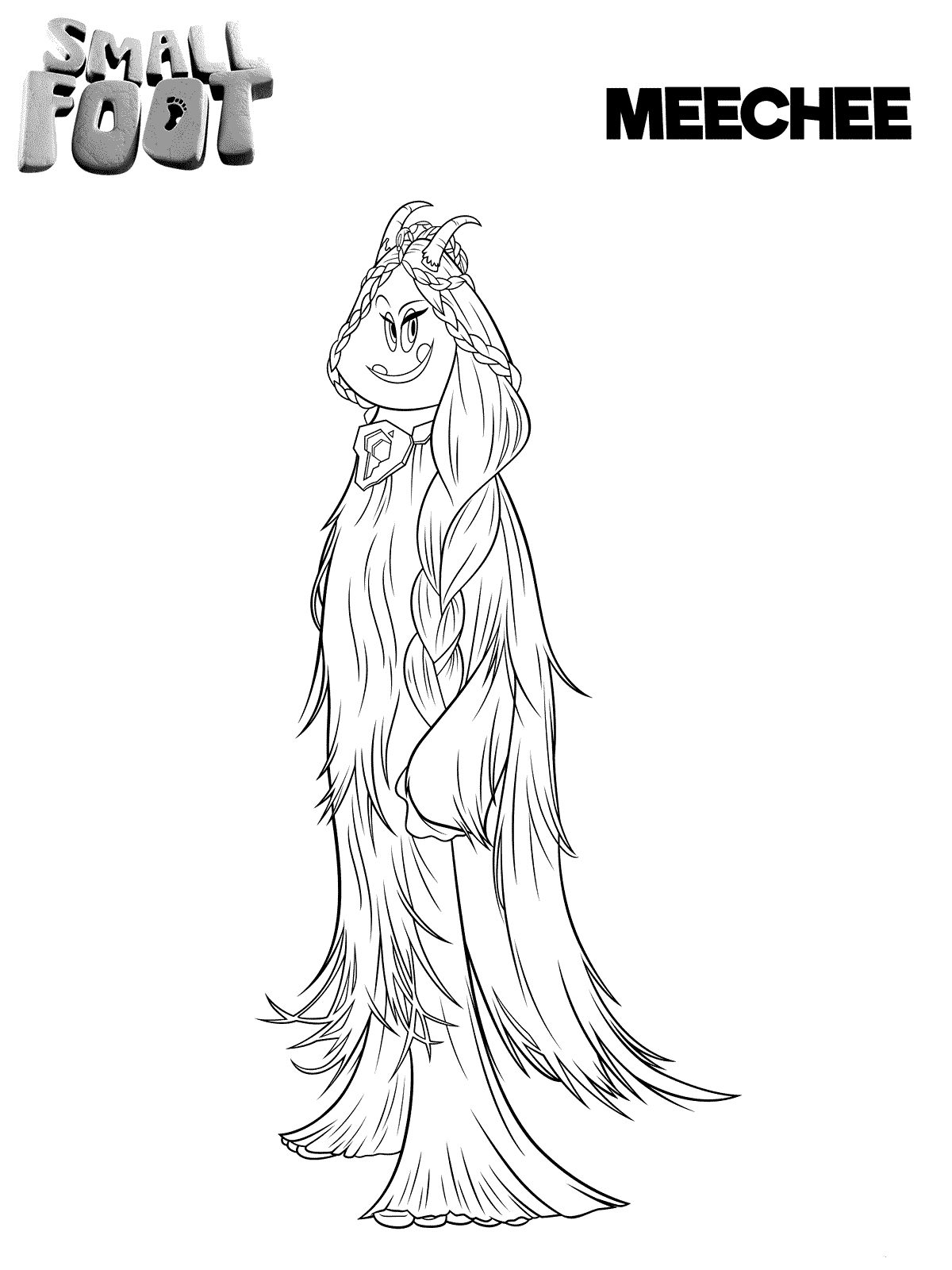 Smallfoot Coloring Pages To Print Meechee Coloring Pages To Print Cartoon Coloring Pages Coloring Pages