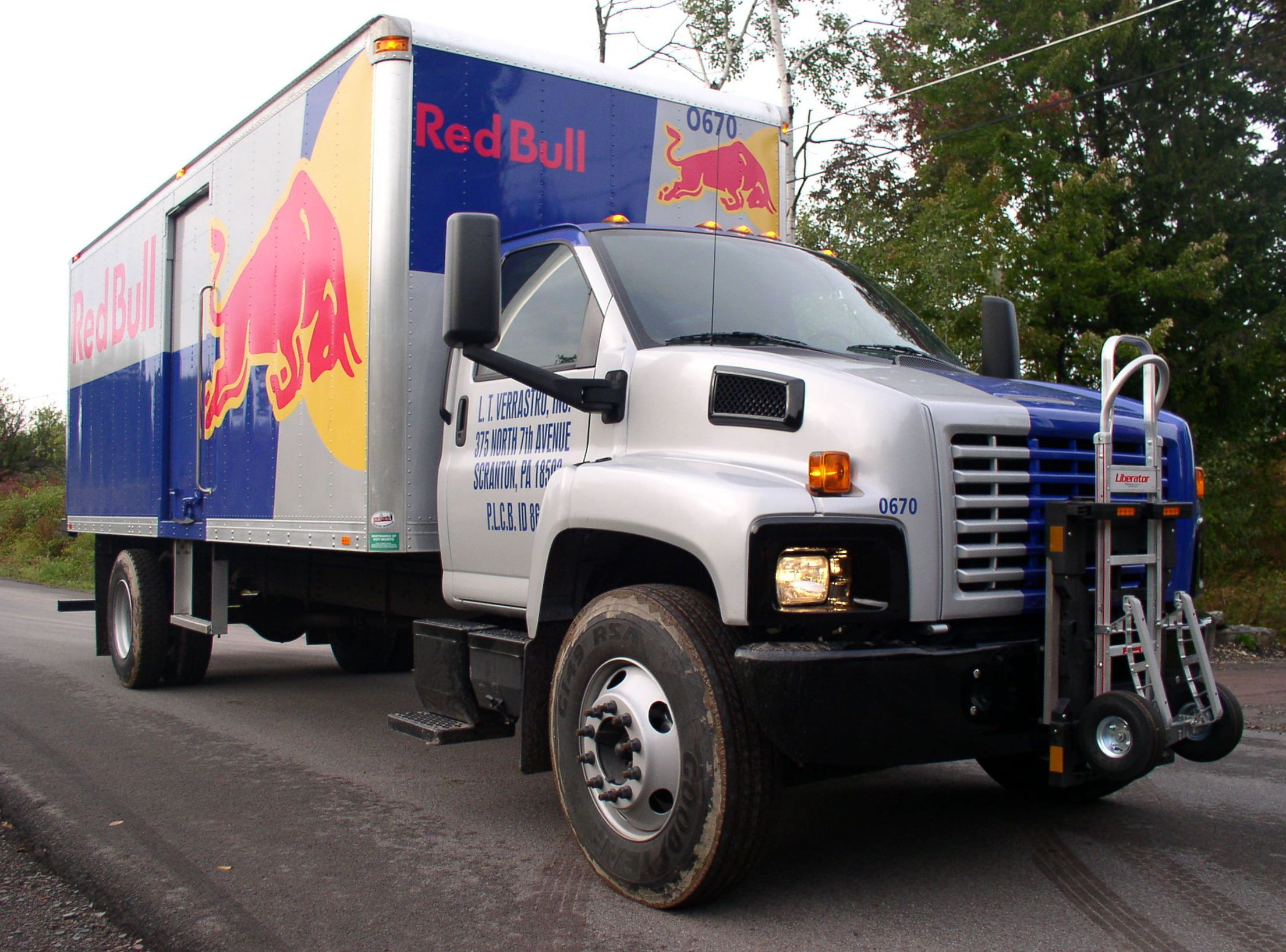 Red Bull Gmc Route Delivery Truck Equipped With Hts Systems