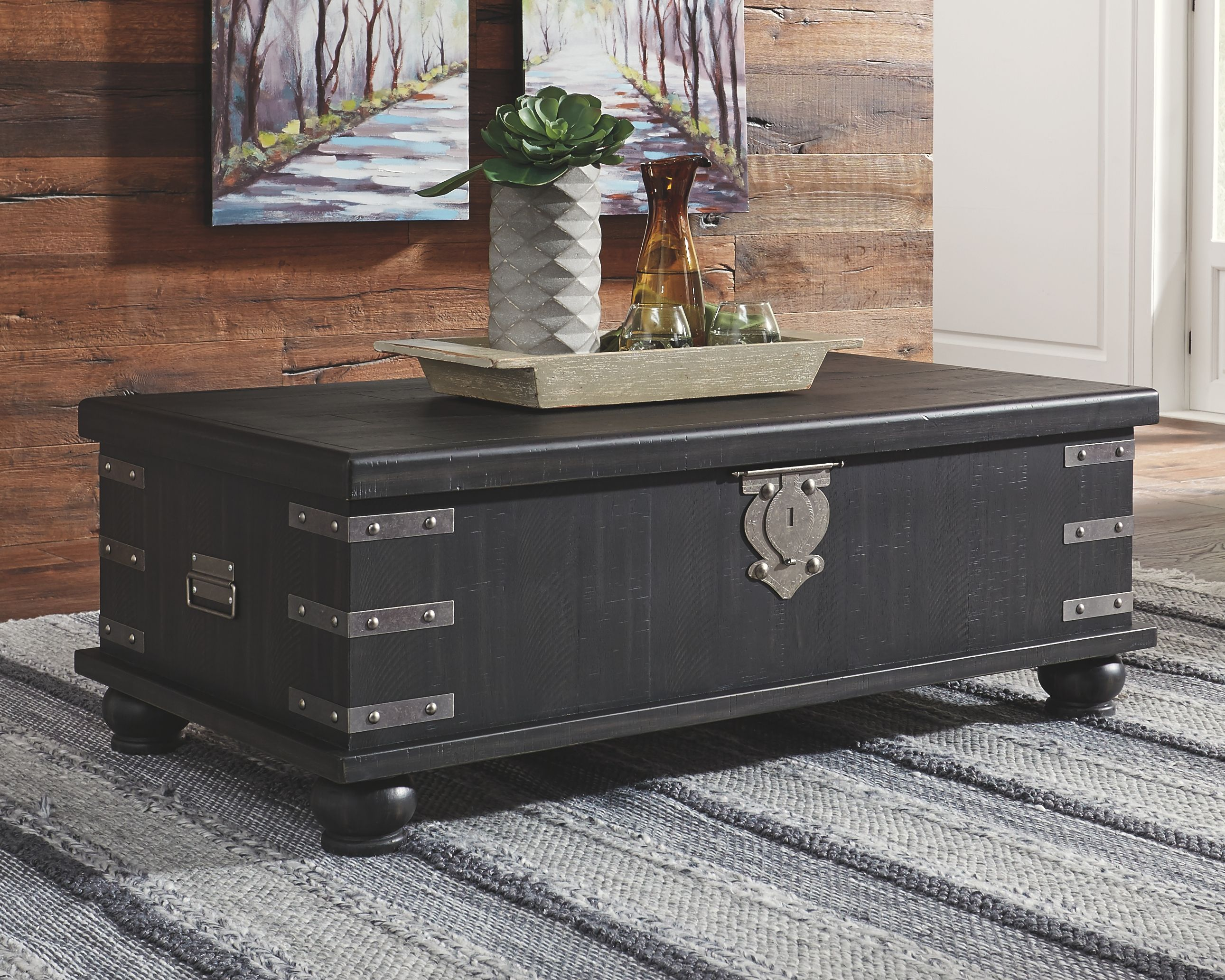 Delmar Coffee Table With Lift Top Ashley Furniture Homestore In 2021 Coffee Table Styling Brown Area Rugs Coffee Table [ 2065 x 2581 Pixel ]