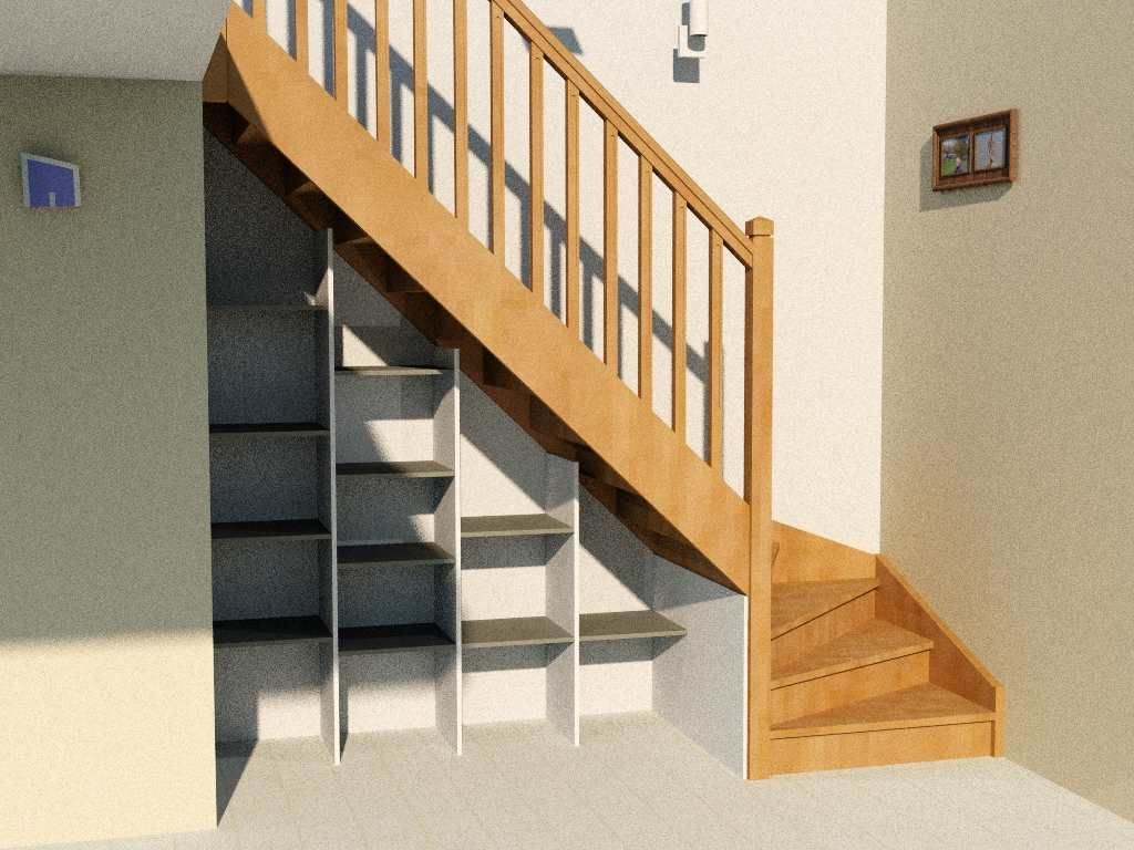 etag re sous escalier mod le basique d 39 am nagement sous escalier conomique et efficace cr. Black Bedroom Furniture Sets. Home Design Ideas