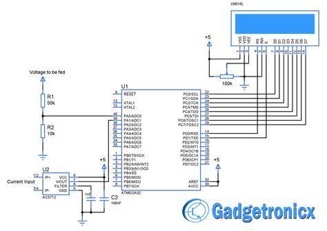 Volt-Amp meter using AVR microcontroller | Arduino | Volt