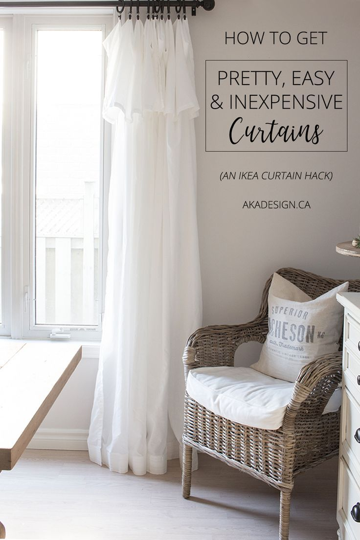 Love These Breezy, Casual Curtains! And Theyu0027re So Versatile And Cheap!  #budgetdecorating #diyhome #howtosavemoney
