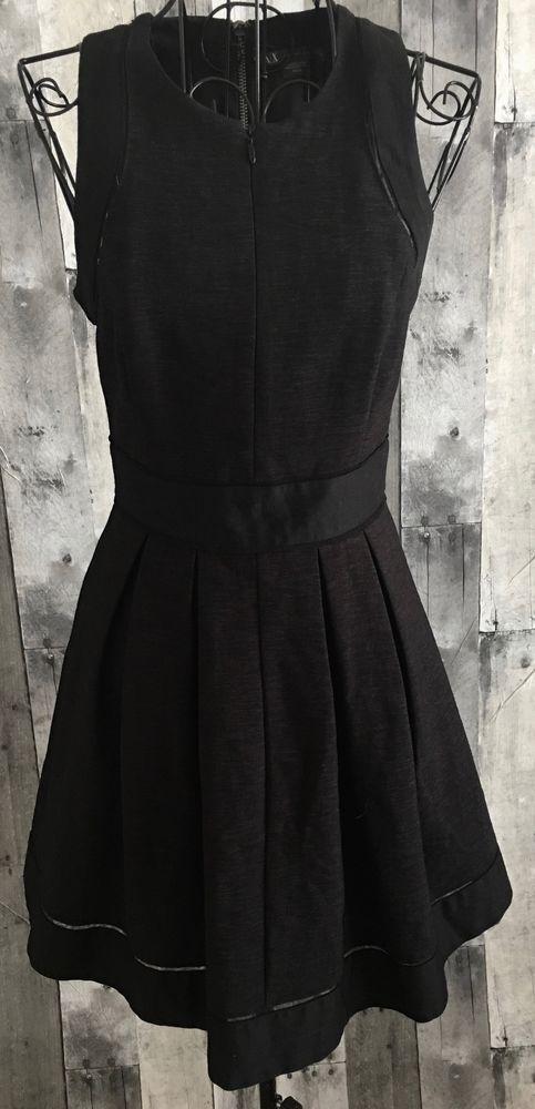 d2276646d7 AX Giorgio Armani Exchange Black Dress Sleeveless Heather Tweed Zipper  Petite 0  GiorgioArmaniAXArmaniExchange  Dress