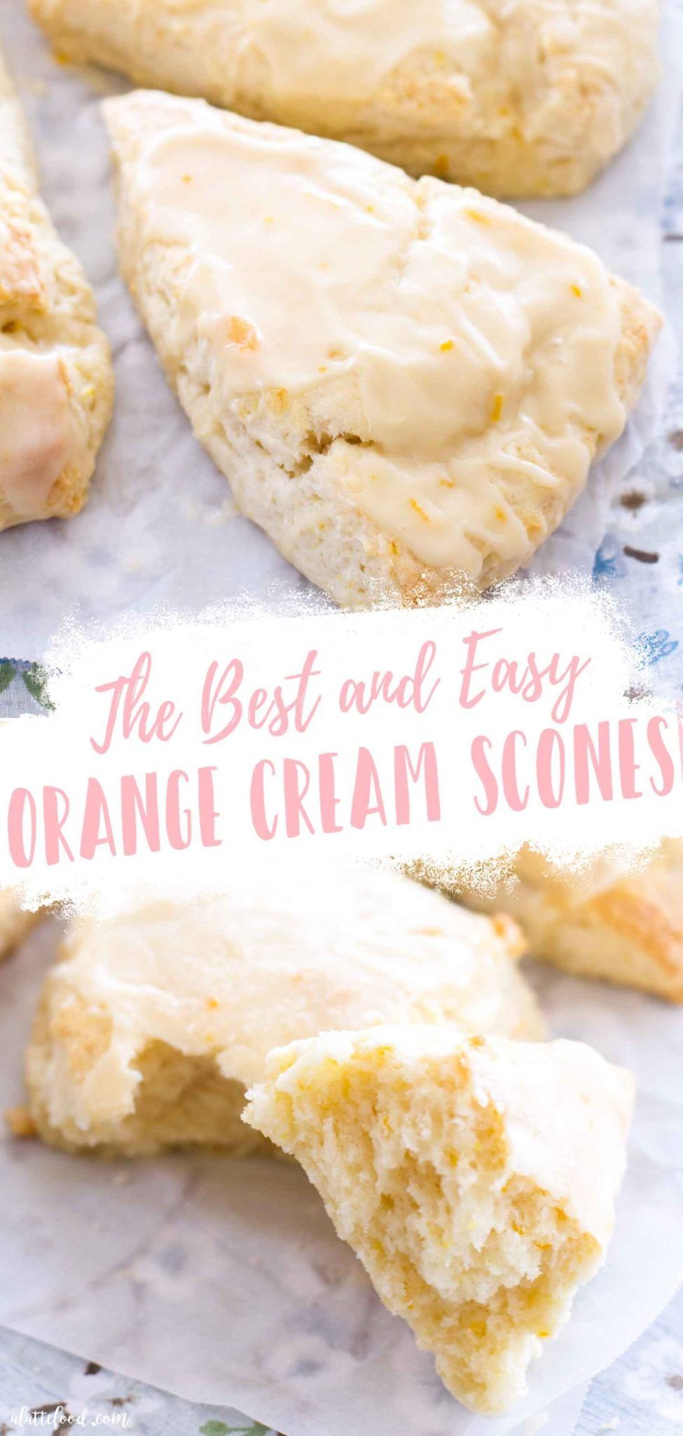 These Flaky Orange Cream Scones With A Homemade Orange Glaze Are So Easy To Make At Home Made From In 2020 Scones Recipe Easy Heavy Cream Recipes Orange Scones Recipe