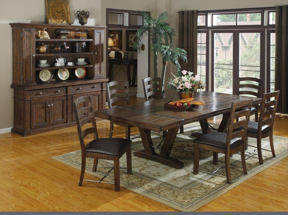 Dining Room Elegant Brown Rustic Dining Room Tables 6 Chairs With Magnificent Laminate Dining Room Tables Inspiration
