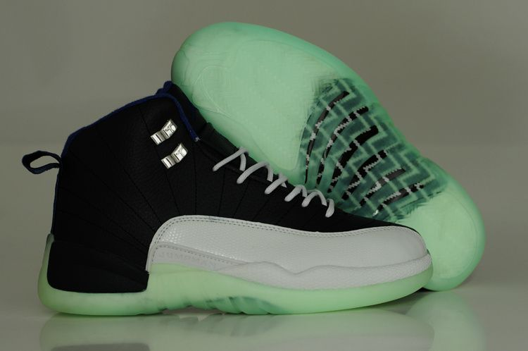 1a397abccf4 Air Jordan 12 Light Up Shoes Navy White