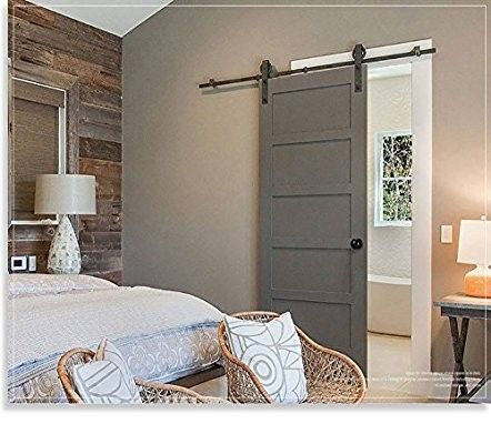 Homedeco Hardware 10 Ft Rustic Kitchen Coffee Wood Sliding Barn Door Hardware Rolling Antique Flat Closet Doors Interior Wood Doors Interior Barn Doors Sliding