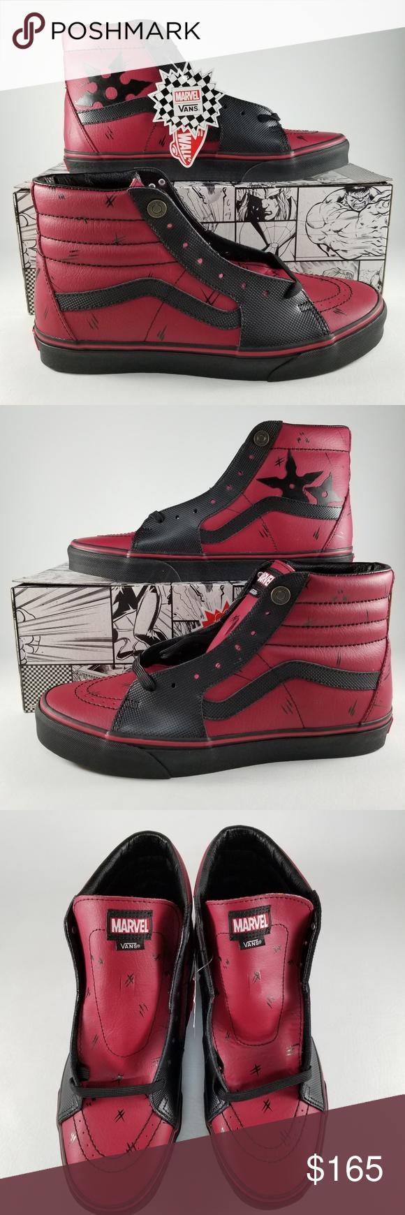 449914d2086 VANS X Marvel Sk8 Hi Deadpool Men s Sneakers SZ 11 VANS X Marvel Sk8 Hi  Men s