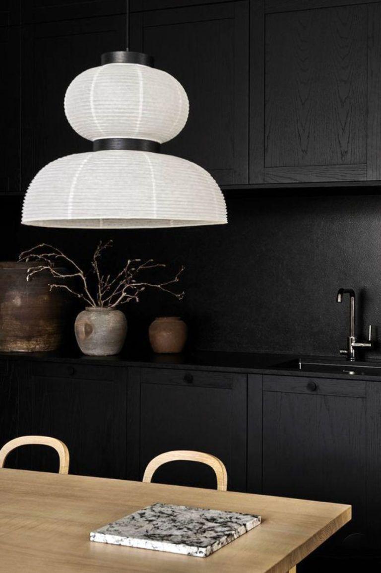 all black kitchen cabinetry and backsplash  sfgirlbybay