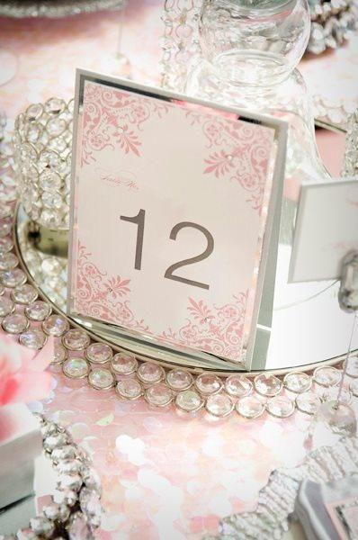 decoration mariage rose poudre et gris