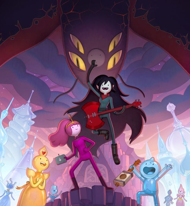 King Of Ooo Adventure Time Distant Lands Obsidian Key Art Adventure Time Marceline Marceline And Bubblegum Anime