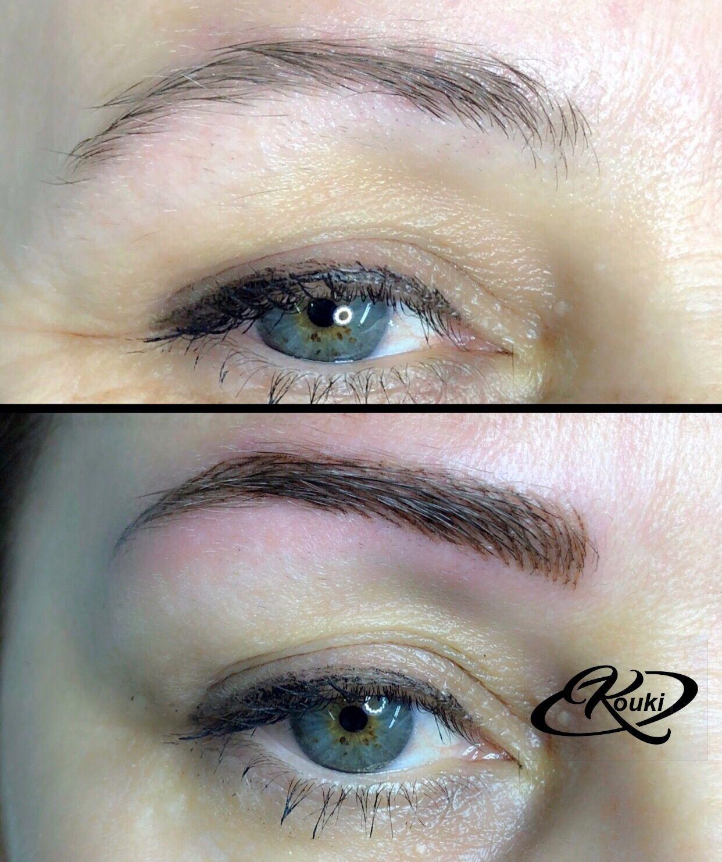 Eyebrows tattoo by Kouki, φρυδια Makeup tattoos, Eyebrow
