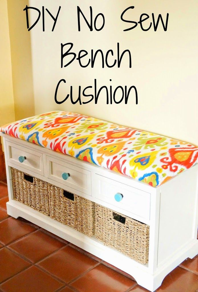 Diy No Sew Bench Cushion Here S One Option Using Plywood Which Requires A Staple Gun Still Good Tutorial