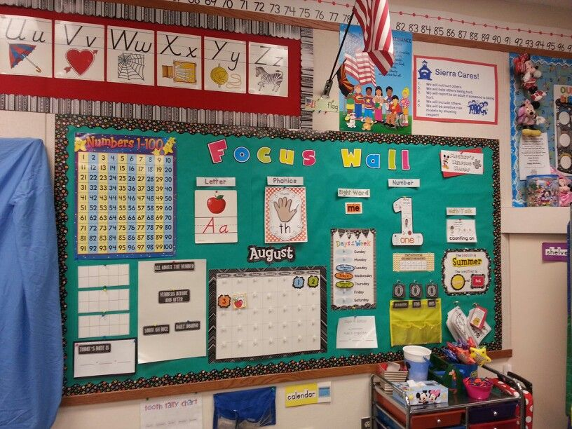 Kindergarten Classroom Calendar Wall : Kindergarten focus wall letter phonics sight word
