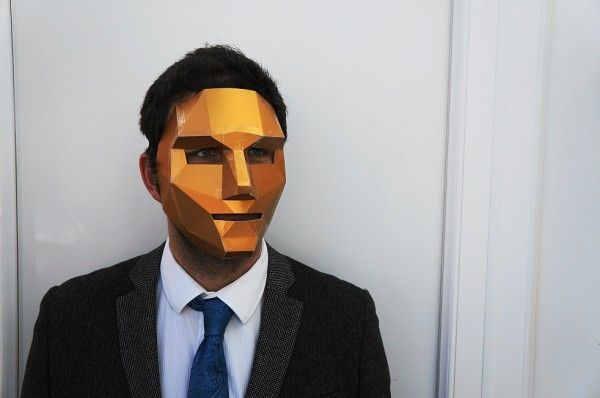3D polygon face mask Tímido Pinterest Papercraft, Masking and 3d - paper face mask template
