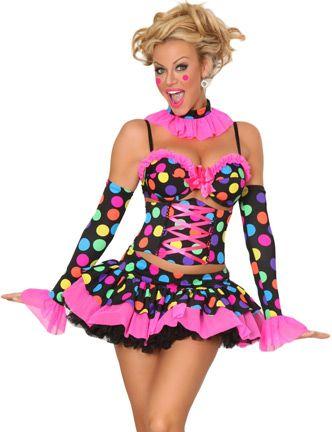 2a48b3e0a5548 Naughty Clown Costume   All American   Clown halloween costumes ...