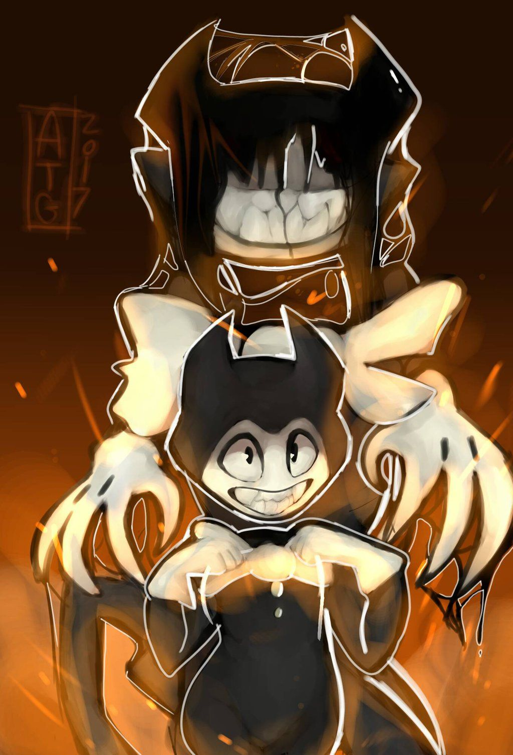 Look Back Bendy And The Ink Machine Fan Art By Puijela10 Bendy And The Ink Machine Art Fan Art
