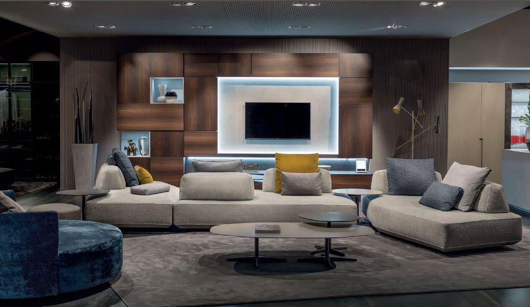 Modular Sofa Contemporary Fabric 3 Seater Filiph Pentagonal