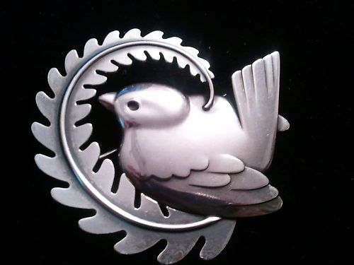 GEORG JENSEN Sterling Silver Bird brooch