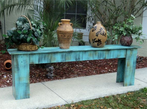 Phenomenal Entry Or Sofa Table Plant Stand Rustic Wooden Bench Gmtry Best Dining Table And Chair Ideas Images Gmtryco