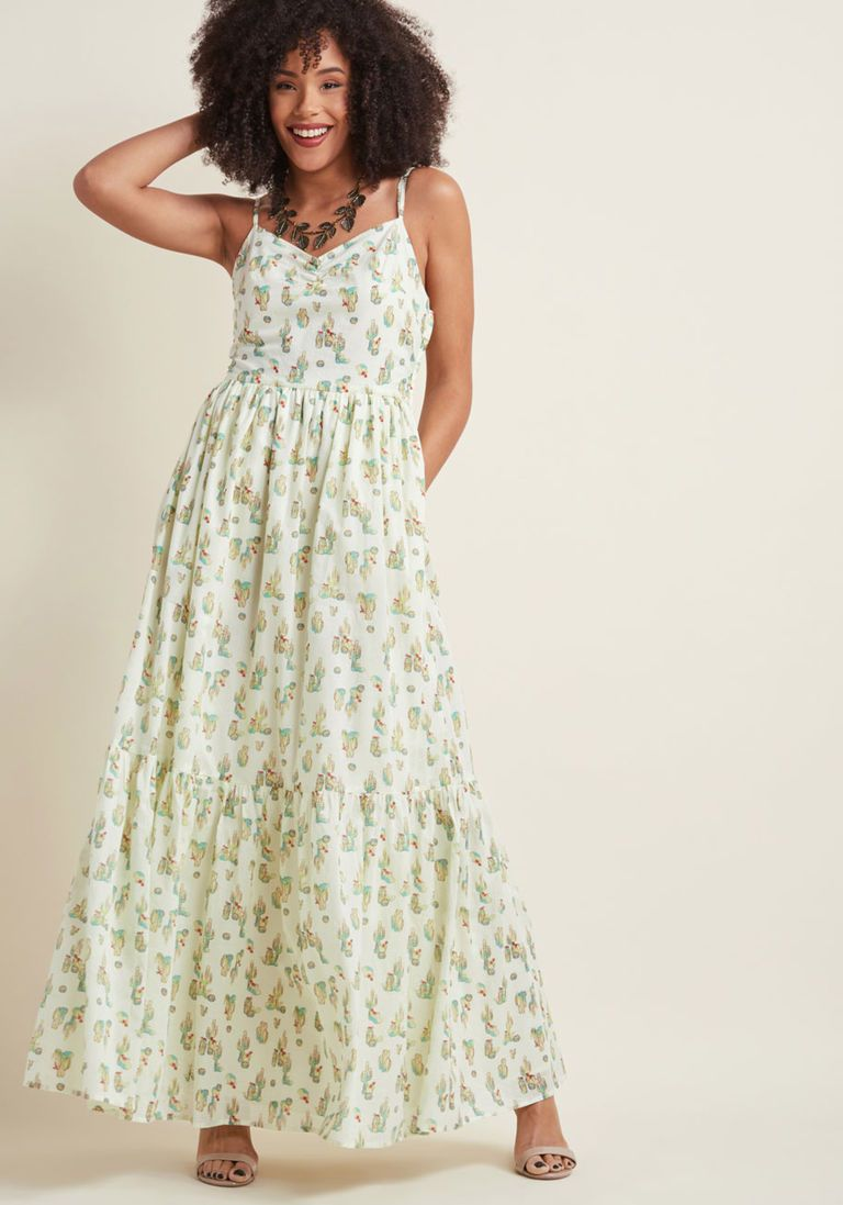 In your nature maxi dress in cacti in xl spaghetti by modcloth in