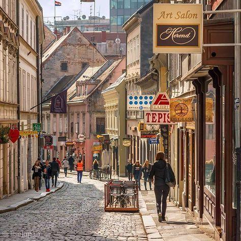 Walk Walk Walk Radiceva Ulica Zagreb Croatia Croacia Carteles De Viajes Paises Balticos
