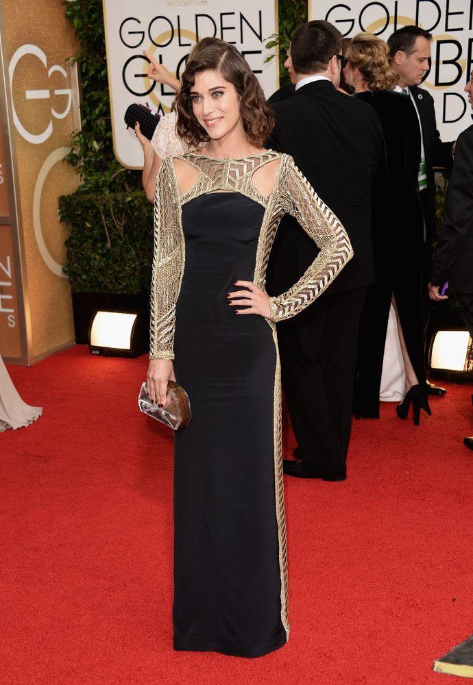 Golden Globes 2014: Lizzy Caplan in Emilio Pucci, Bionda Castana, Raowulf, David Yurman
