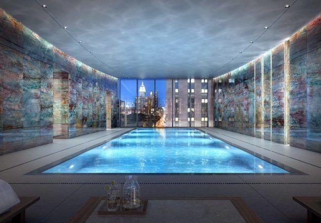 Indoor Pool bauen - 50 traumhafte Schwimmbäder Indoor - indoor pool bauen traumhafte schwimmbaeder