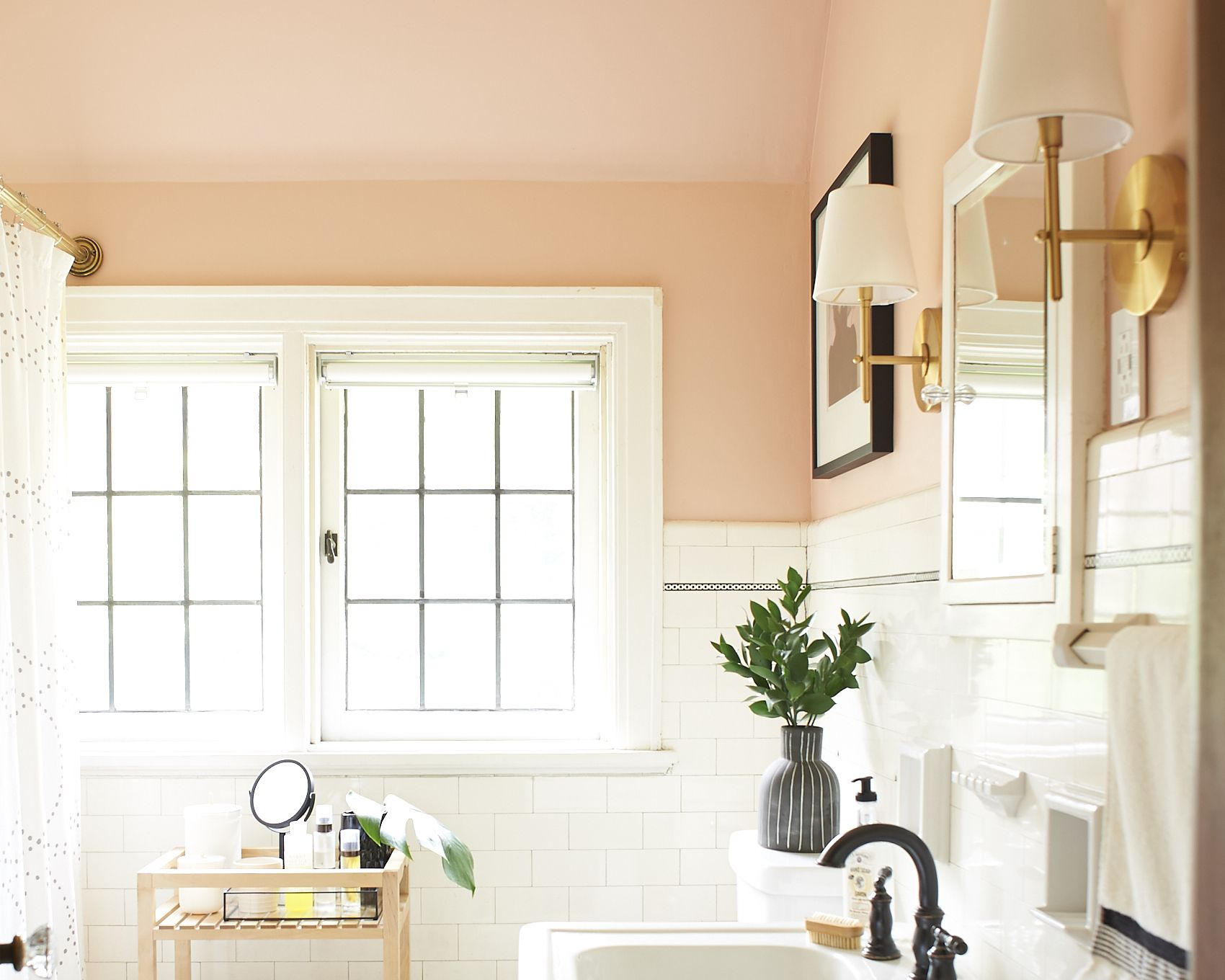 Salle De Bain Du Futur ~ blush and moody tones in a pittsburgh home for photographers