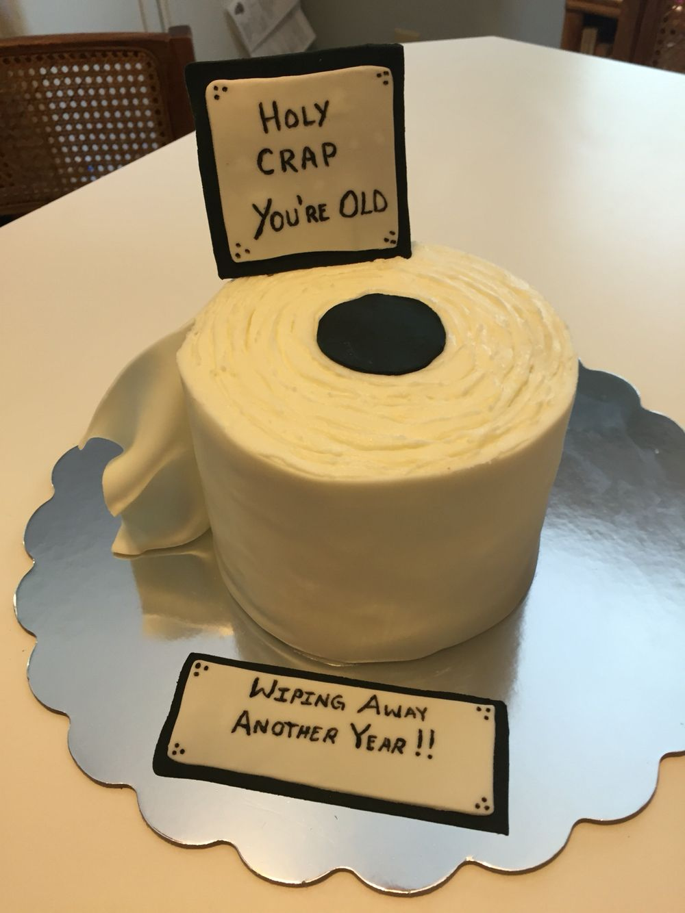 Toilet paper roll cake for a friend's 40th birthday.