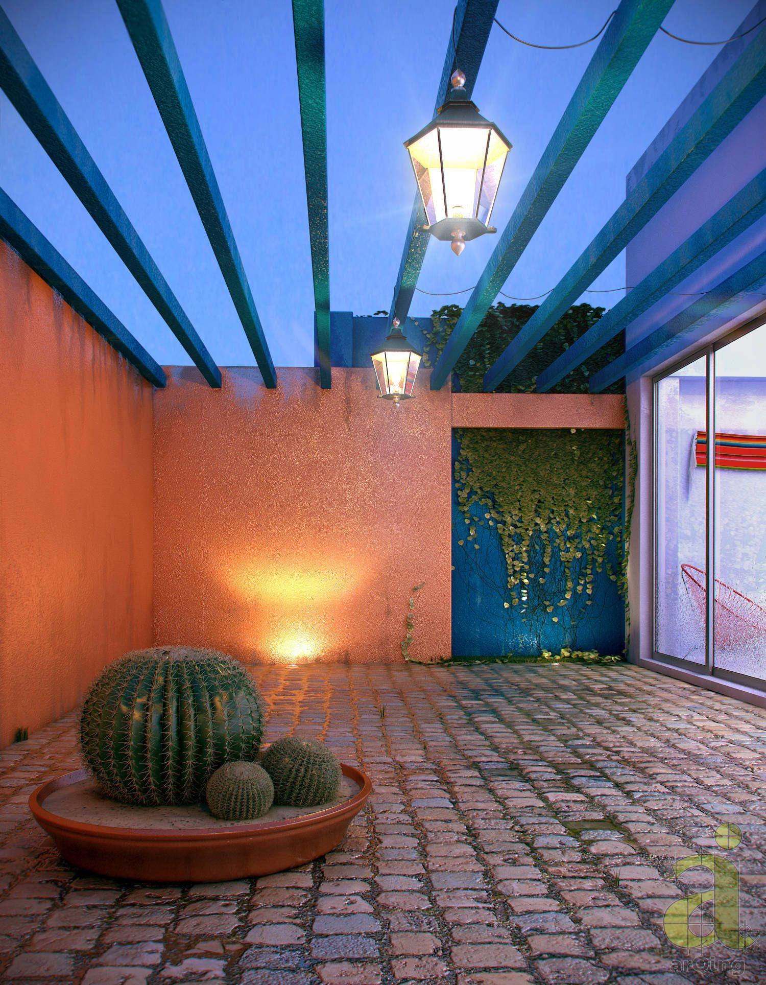 Patio mexicano jardines de estilo por arqing ide as for Jardines con estilo