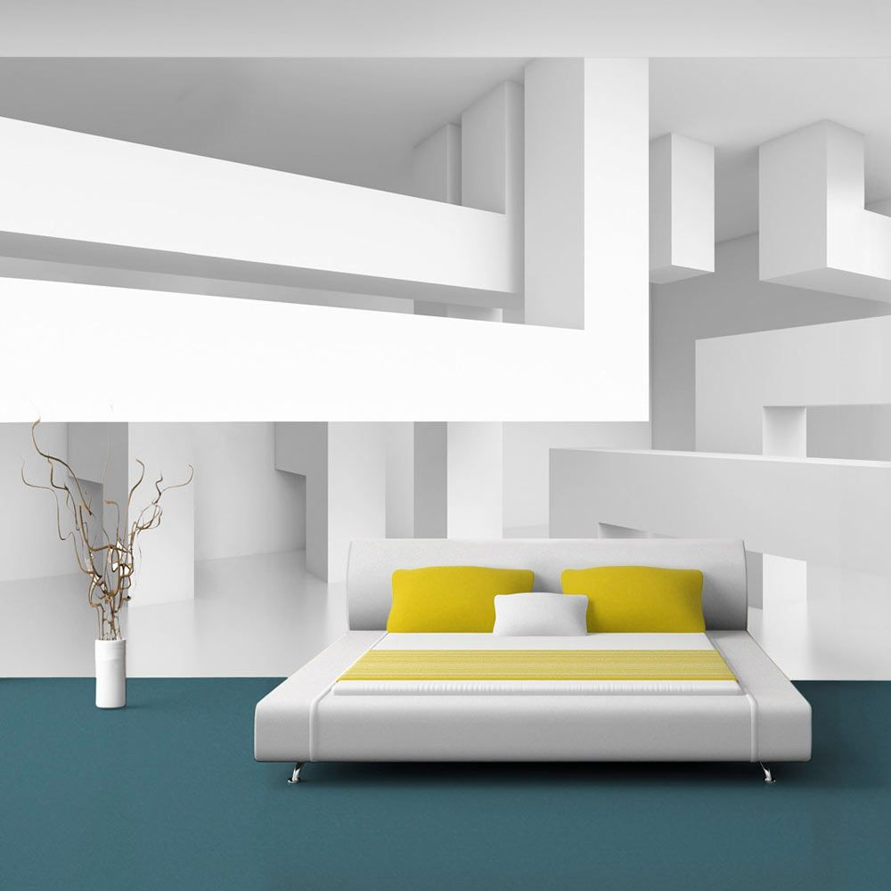 vlies tapete top fototapete wandbilder xxl 400x280 cm 3d abstrakt optische illusion f. Black Bedroom Furniture Sets. Home Design Ideas