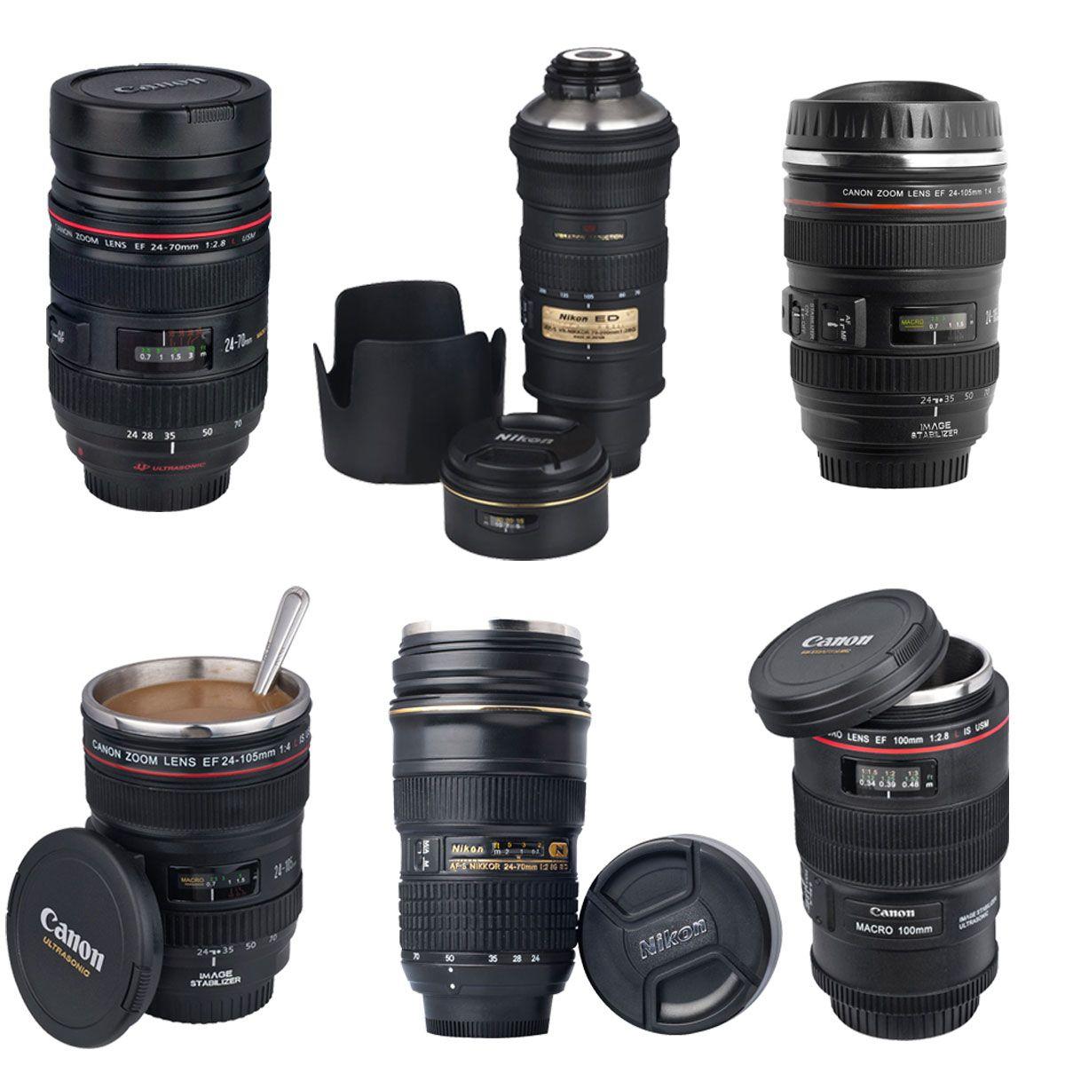 Nikon Canon 24 105 24 70 70 200mm Camera Stainless Lens Mug Coffee Tea Cup Coffee Tea Cups Tea Cup Gifts Coffee Tea