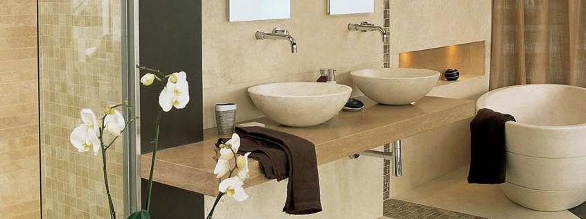 Elegant And Modern Bathroom Made Out Of Hal Tun Stone Which Is From Merida Yucatan Small Space Bathroom Design Bathroom Remodel Designs Bathroom Design Luxury