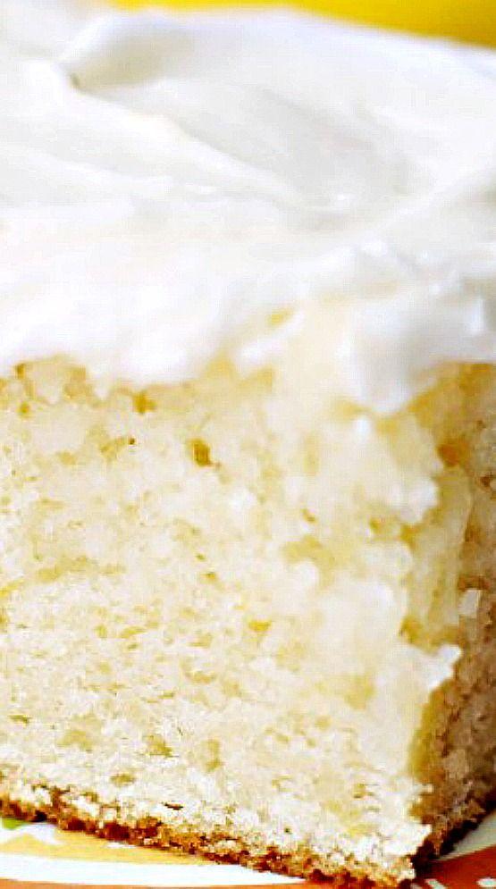 Lemon Cake With Sour Cream Lemon Icing 5 Boys Baker Recipe Sour Cream Cake Desserts Lemon Recipes