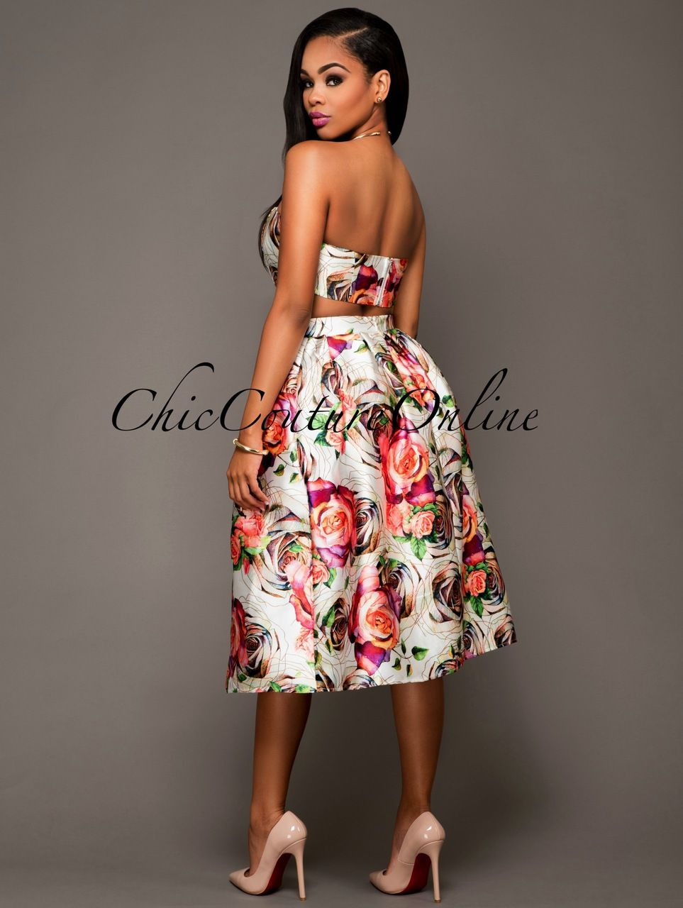 Chic Couture Online - Rosalyn Sheen Ivory Multi-Color Print Two Piece Set.(http://www.chiccoutureonline.com/rosalyn-sheen-ivory-multi-color-print-two-piece-set/)