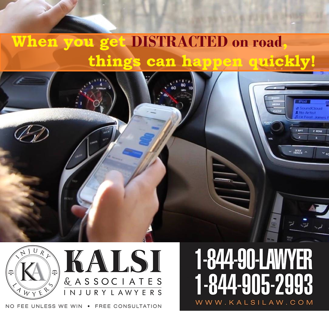 Distracted Driving Is The Leading Cause Of Accidents In Ontario Using Your Cell Phone Activities Li Personal Injury Lawyer Injury Lawyer Personal Injury