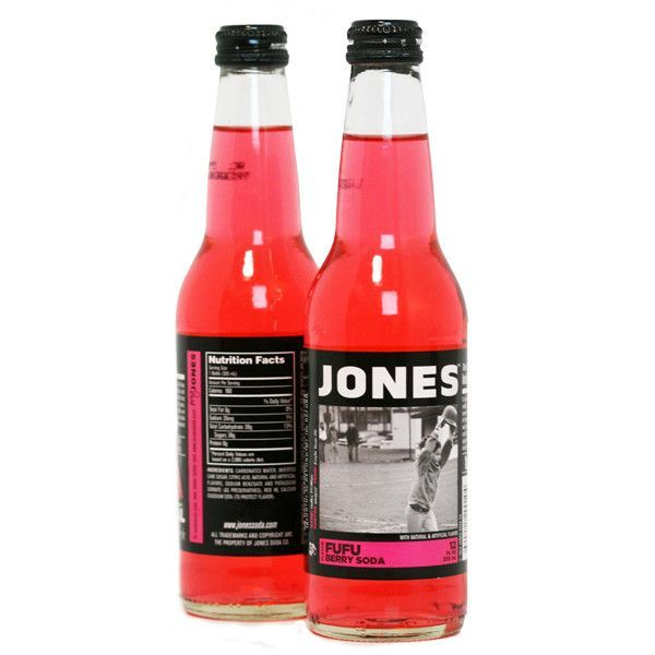 12 Pack Jones Fufu Berry Cane Sugar Soda Jones Soda Soda Berries