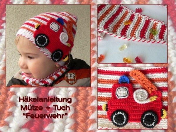 Pdf Häkelanleitung Mütze Tuch Feuerwehr Häkeln Crochet