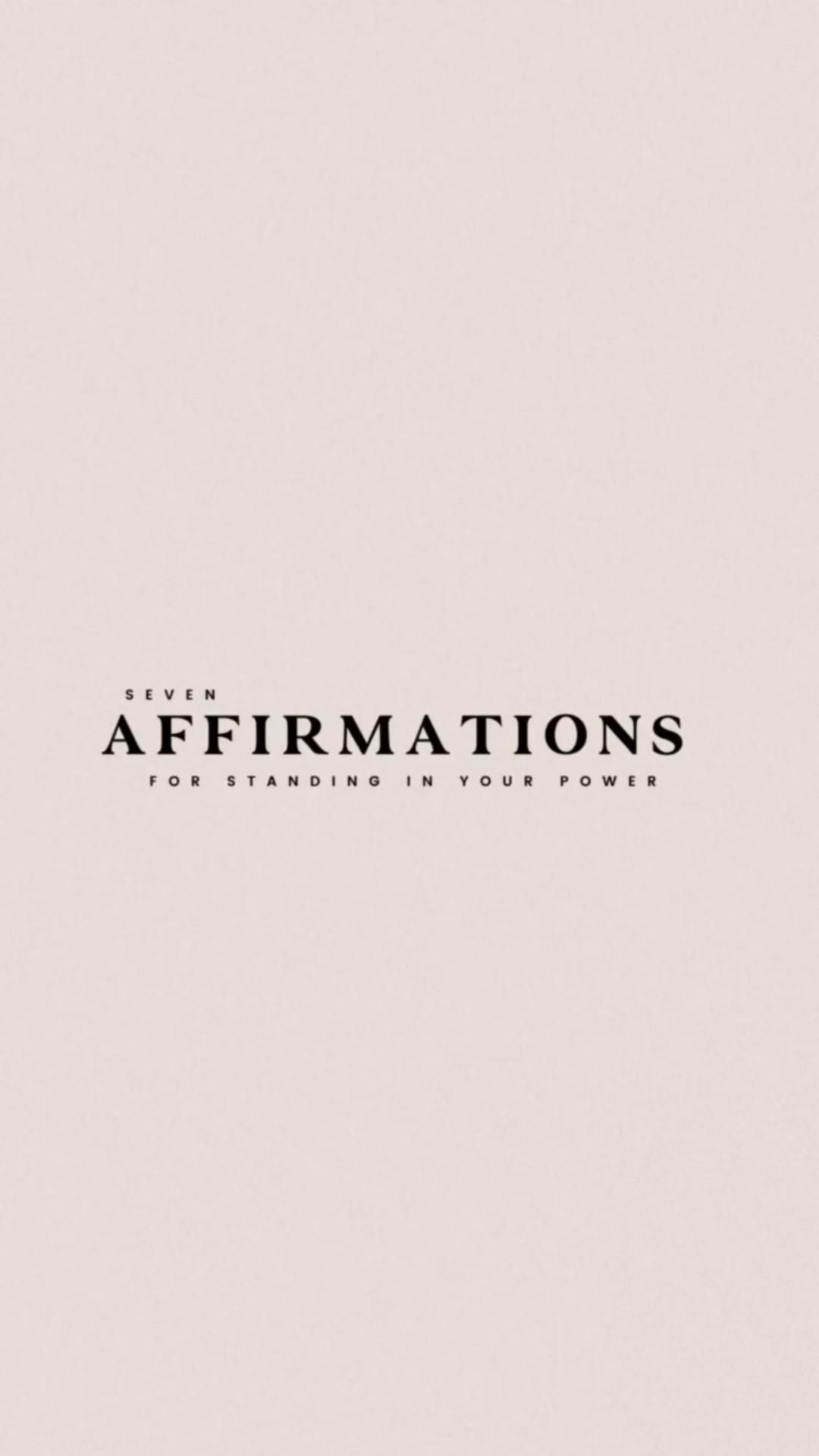 Seven Affirmations for Standing in Your Power. I hope this mini meditation brings you joy!