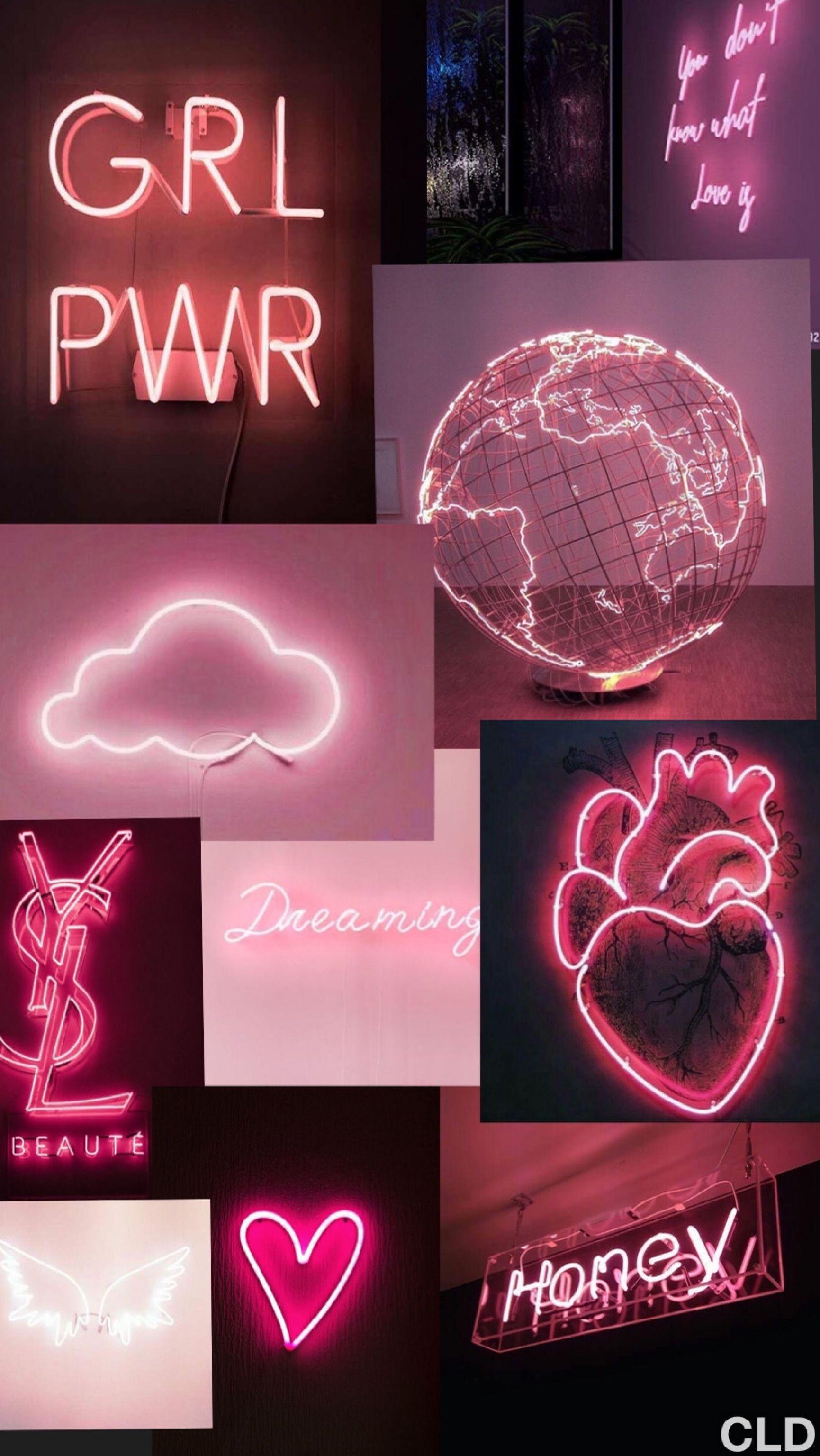 Pink Aesthetic Neon Wallpaper Pink Neon Wallpaper Pink Wallpaper Iphone Neon Wallpaper