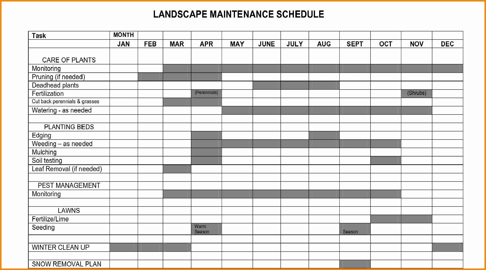 Facility Maintenance Plan Template New Plant Maintenance