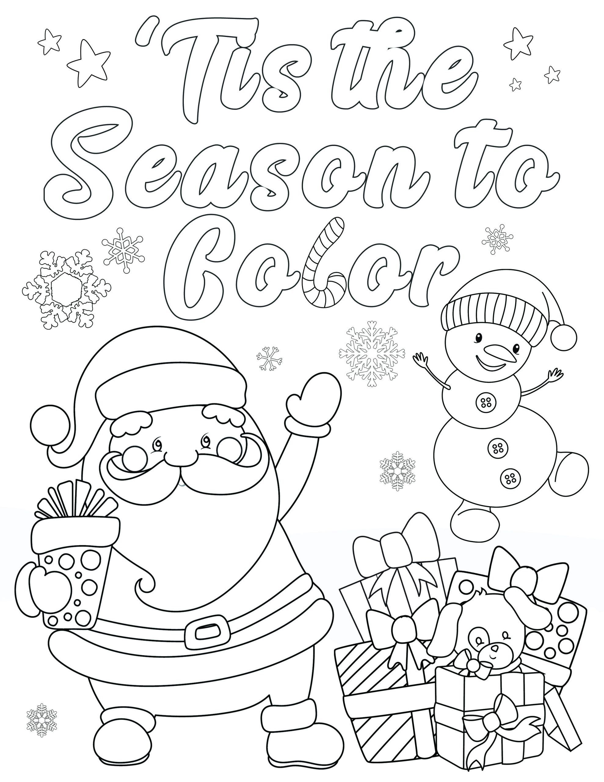 Christmas Coloring Pictures for Adults Free Christmas Coloring ...