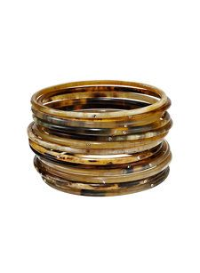 blaise set of 14 brown bracelets