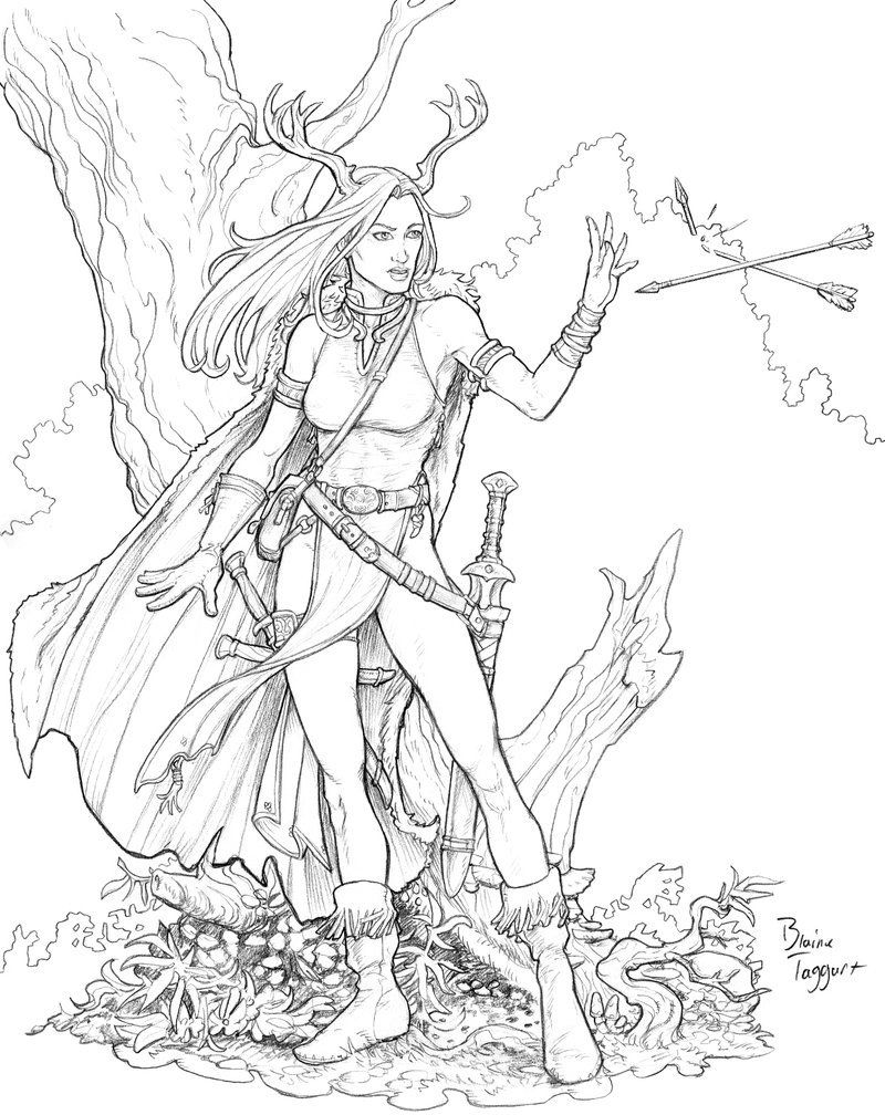 Pin On Colouring Pages Female Characters