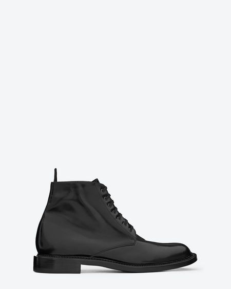Discover the Signature Lace Up Boot in Black Leather at http://www.ysl.eu/en_GB/shop-products/Men/Shoes/Boots/signature-lace-up-boot-in-black-leather_805167379.html