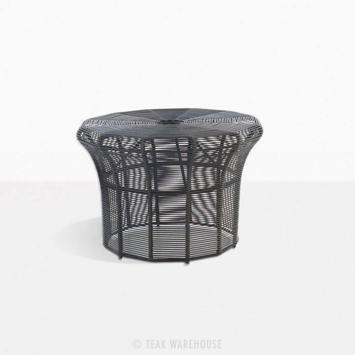 Poppi Small Side Table Black Small Outdoor Side Table